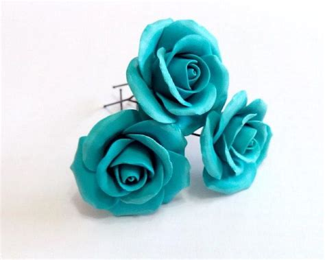 Wedding Hair Accessories Roses by Turquoise Roses Large Wedding Hair Accessories