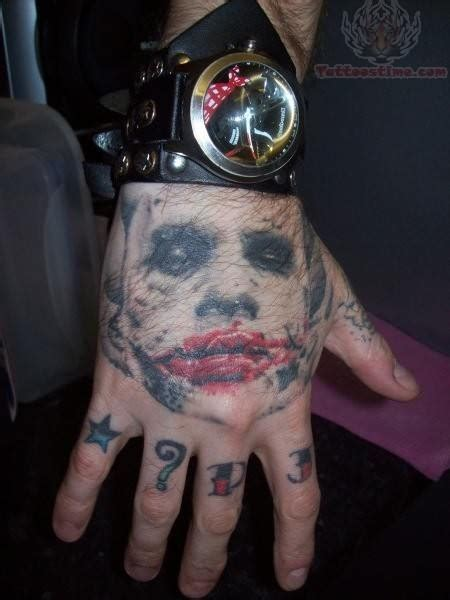 joker tattoo on hand joker tattoos designs ideas page 4