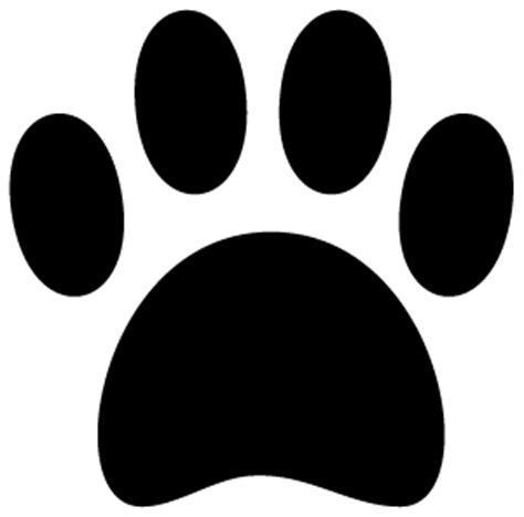 Pawprint Silhoutte Clipart Best Paw Print Silhouette