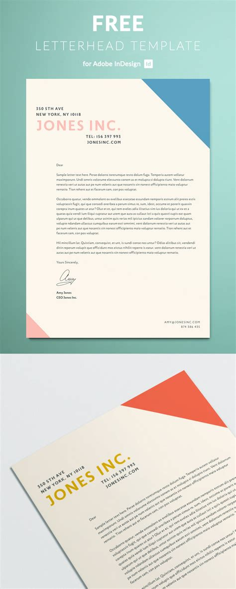 Letterhead Template For Indesign Free Download Indesign Letter Template