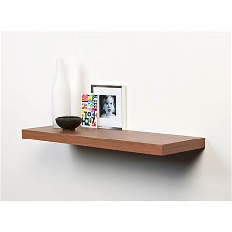 Homebase Shelf Board by Duraline Floating Shelf Walnut 60 X 23 5cm