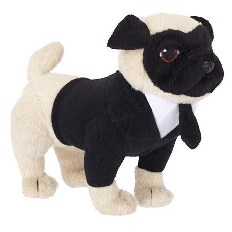 black pug plush in black iii frank the pug 20 cm plush with sound jakks pacific jpa39996