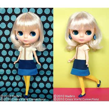Simply Dress Blue By Vanilla blythe sideral blythe simply vanilla