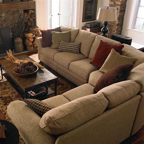 quality sofas for small spaces bassett 5000 ccsectf custom upholstery manor curved corner