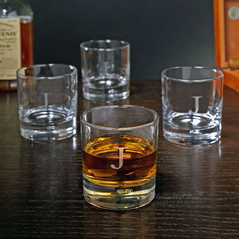 Personalized Bar Glasses Personalized Bryne Whiskey Glasses Set Of 4 Bar Glasses