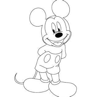 Mickey Mouse Belajar Menggambar mewarnai mickey mouse dengan lucu belajar mewarnai