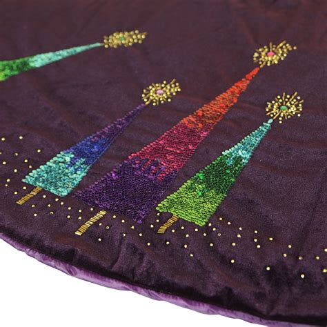 tree skirts 56 quot purple razzberry velvet tree skirt