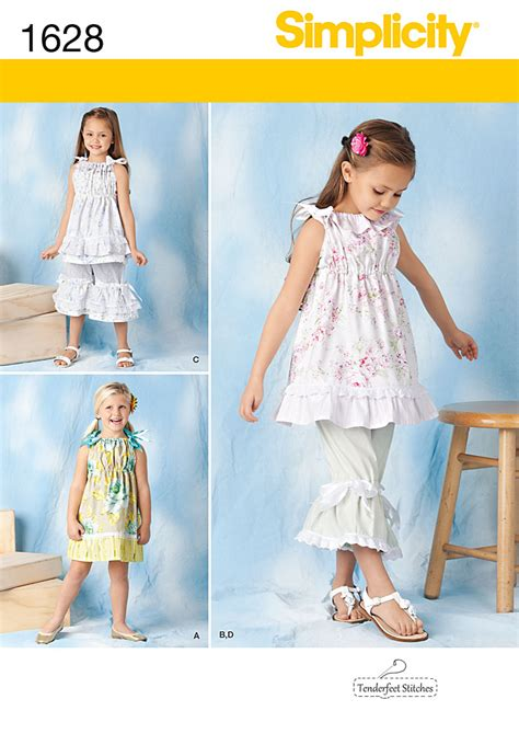 pattern review simplicity simplicity 1628 child s dress top pants