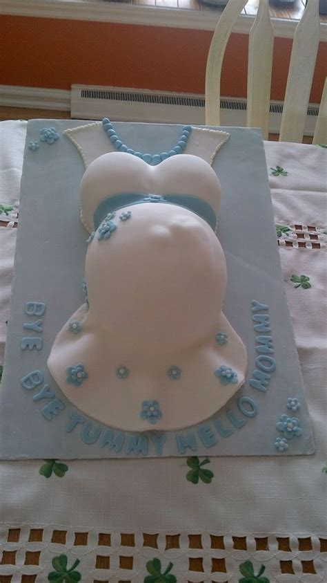 Showers And Pregnancy by Belly Baby Shower Cake Cakes By Me