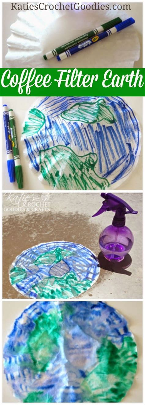 earth day craft for easy earth day craft with coffee filter planets earth
