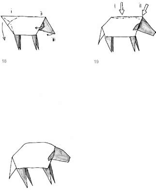 Origami Sheep Diagrams - origami sheep 3d origami step by step