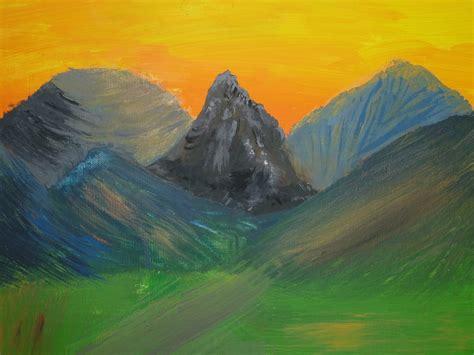 Lukisan Pemandangan Pegunungan foto gratis lukisan pemandangan pegunungan gambar