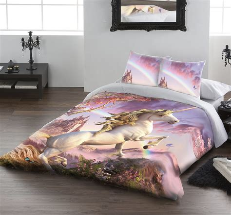 unicorn bedding twin awesome unicorn duvet cover set for uk double us twin bed by david penfound ebay