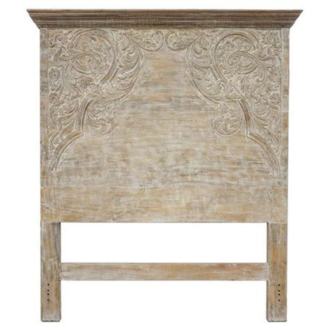 hand carved headboard mango wood headboard with hand carved detailing and a