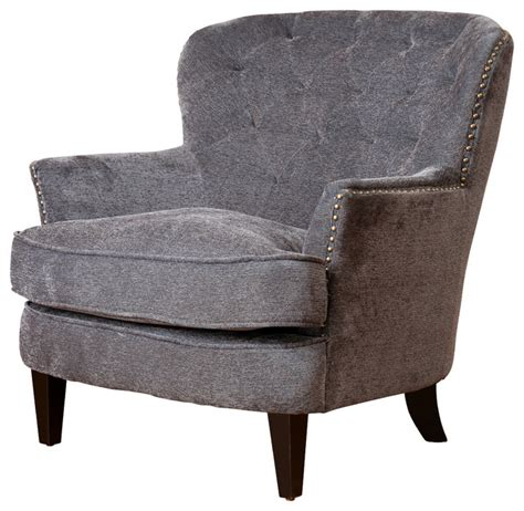 Upholstered Accent Chairs by Melford Royal Vintage Design Upholstered Arm Chair Grey