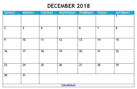 make a calendar december 2018 december 2018 calendar printable templates calendarbuzz