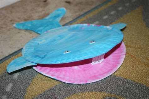 Whale Paper Plate Craft - whale crafts ideas