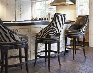 Leather Kitchen Chairs Leather Zebra Bar Stools Dream Kitchen Pinterest Bar