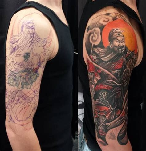tattoo guan gong chronic ink tattoo toronto tattoo guan yu cover up