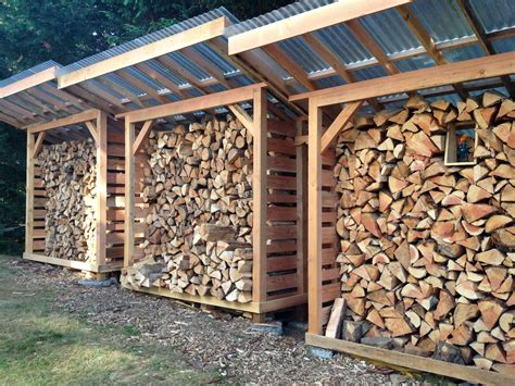 diy outdoor firewood storage box plans   roll