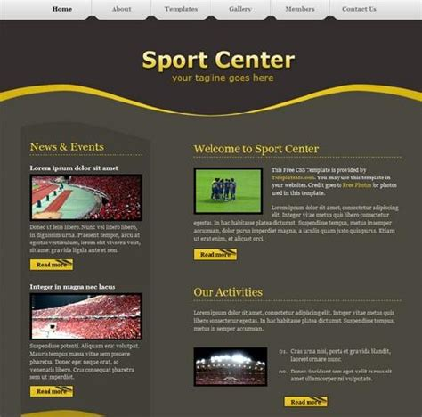 free sports website templates 20 free html css sports website templates utemplates