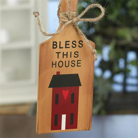bless this house primitive quot bless this house quot cutting board ornament sign signs ornaments home decor