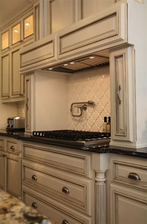 Antique Grey Kitchen Cabinets by Gray Granite Countertops Transitional Kitchen Davies