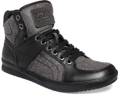 guess mens shoes trippy sneakers in black for black