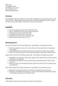 Greenhouse Worker Cover Letter professional greenhouse worker templates to showcase your talent myperfectresume