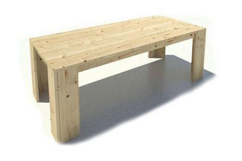 steigerhouten tafel 4 meter steigerhouten eettafel huis en tuin gratis bouwtekening