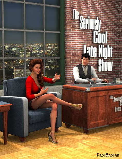 talking show talk show late set and poses 3d models and 3d software by daz 3d