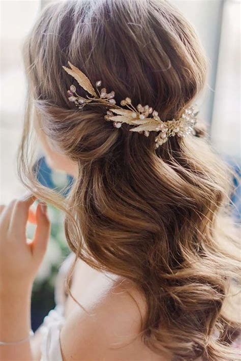 medium length hair for black tie best 25 half up wedding hair ideas on pinterest bridal