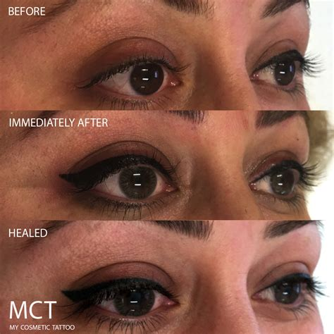 cosmetic tattoo eyeliner tattooed eyeliner before and after www imgkid the