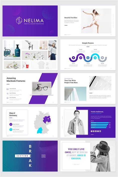 Nelima Modern Minimal Presentation Powerpoint Template 68747 Templates For Presentations On Powerpoint