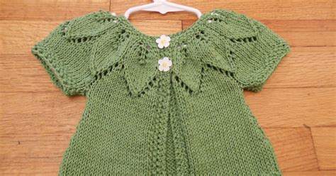 Swaeter Leaf 2 state knitting baby leaf sweater