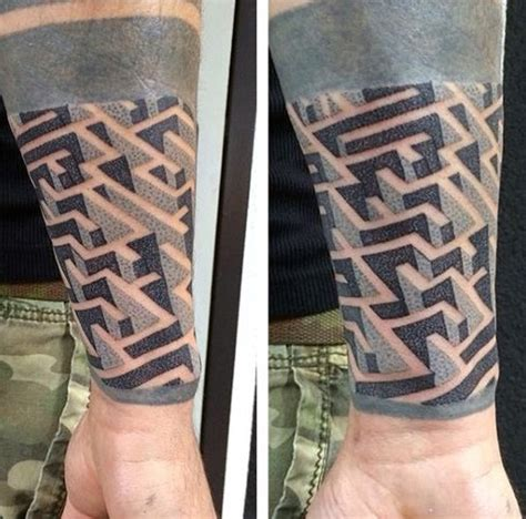 maze tattoo 100 manly tattoos for masculine ink design ideas