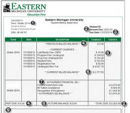 understanding your ebill eastern michigan university