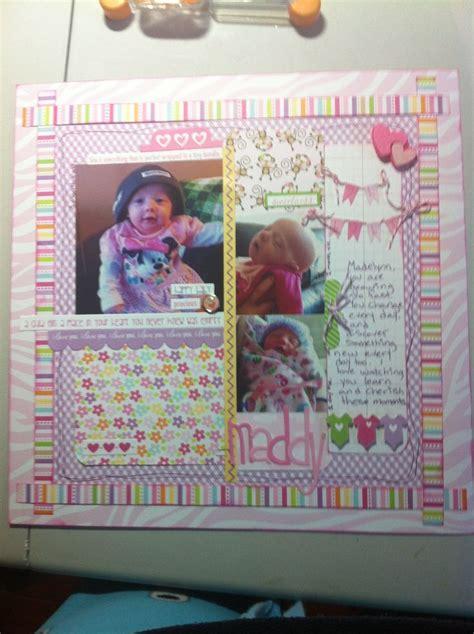 scrapbook layout baby girl baby girl scrapbooking layout scrapbooking pinterest