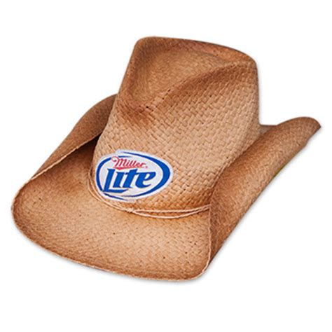 logo on cowboy hat miller lite logo shapeable straw cowboy hat for only 163 21 58 at merchandisingplaza uk