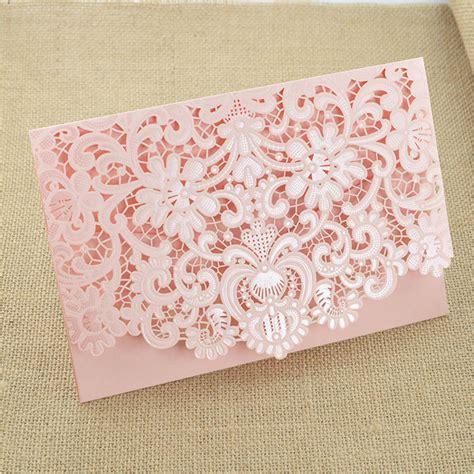 aliexpress com buy pink flower wedding invitations 50