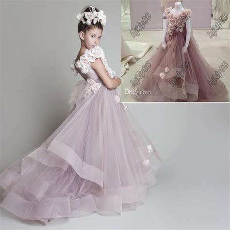 design flower girl dress online beautiful 2014 new lovely new tulle ruffled handmade