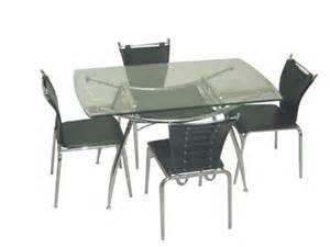 Glass Kitchen Tables And Chairs Glass Dining Tablecontemporary Glass Satin Table Chairs White Kitchen Table