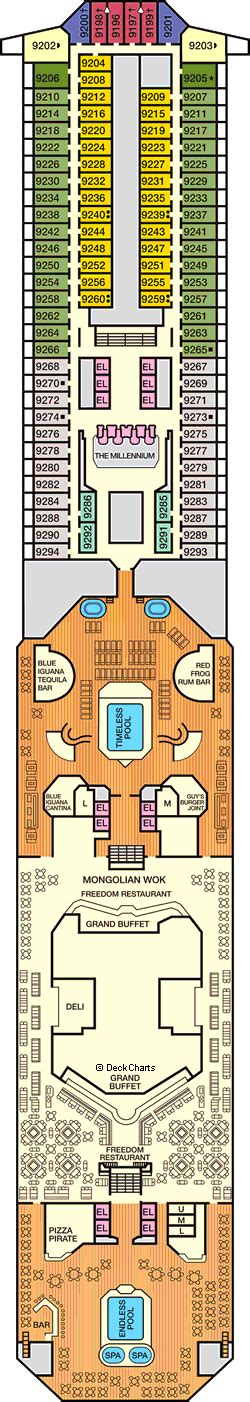 carnival freedom floor plan carnival freedom deck 9 lido deck cruise critic