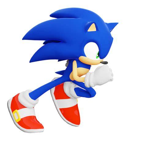Blender National Sonic 06 sonic running by thatgiygasdoe on deviantart