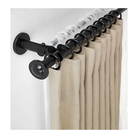 how to make a double curtain rod ikea storslagen double curtain rod set