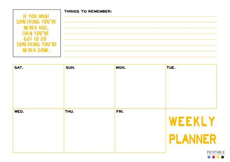 printable planner a4 printable day 11 weekly planner download gt a4 size pdf