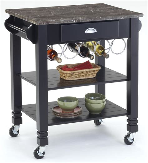 marble top kitchen island cart bernards kitchen carts caster kitchen island with marble