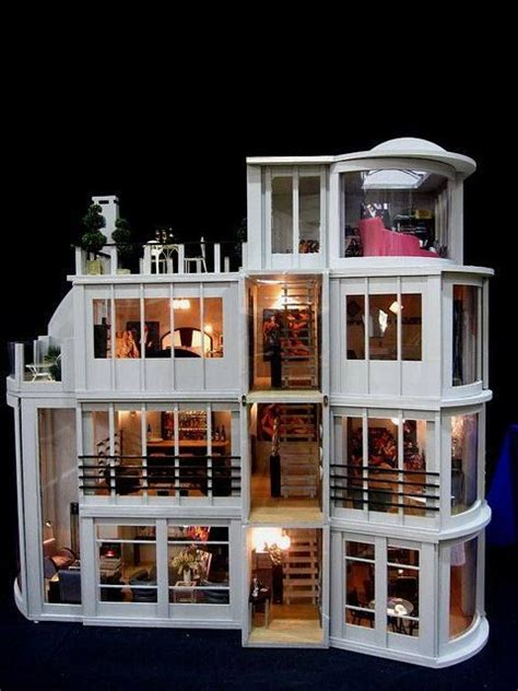 adult dolls house one twelve scale modern home adult dollhouses pinterest