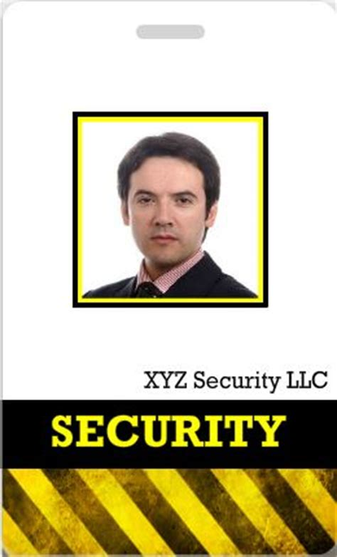 security guard id card template custom id cards id card templates