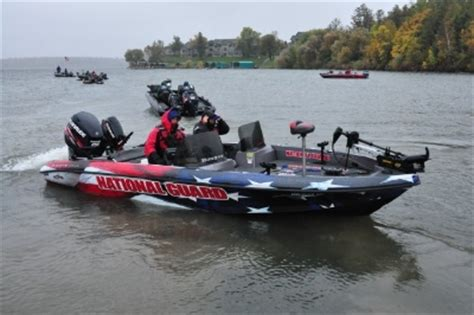 ranger aluminum walleye boats mark courts proud to be in the national guard boat
